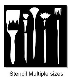 Paint brush Stencil  multi size